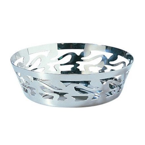 Ethno round open work basket 18cm
