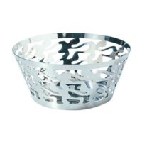 Ethno round open work basket 20cm