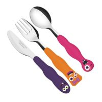 Tramontina Monsterkids Stainless Steel Cutlery Set For Children. 3pcs.